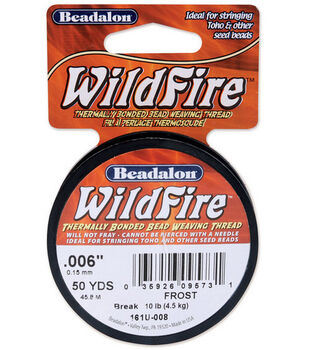 """Wildfire Stringing Wire .006"""" (0.15mm) Dia. 50 Yds/Spool-Clear"""