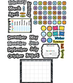 Bw Collection: Calendar Set Bulletin Board Set