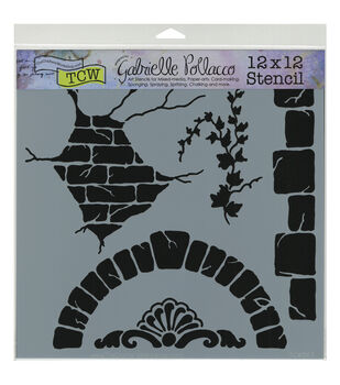Crafter's Workshop 12''x12'' Template-Tuscan Wall
