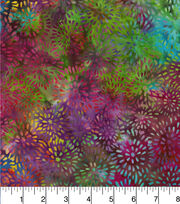Batik Cotton Fabric - Mums Rainbow, , hi-res