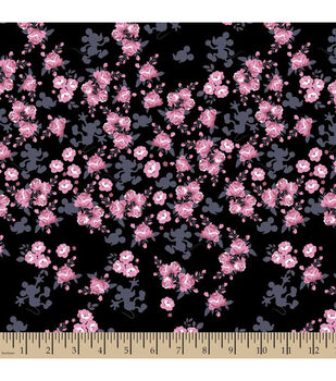 Disney® Mickey Mouse Floral Cotton Fabric