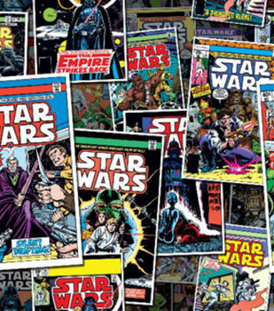 Star Wars Comic Book Covers Cotton Fabric