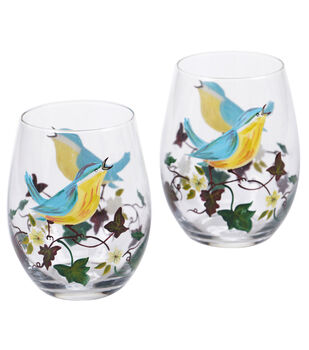 Susan Winget Stemless Wine Glasses-Set Of 2