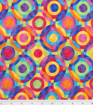 Quilter's Premium Cotton Fabric-Ener Geo Circle Brights