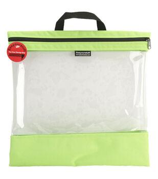 "16""x16"" Seeyourstuff Clear Storage Bag-Lime"