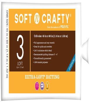 "Soft n Crafty ® Extra-Loft™ Batting 45""x60"""