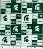 Michigan State University NCAA  Cotton Fabric, , hi-res