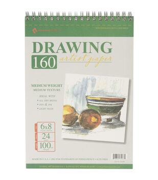 "Drawing Pad 100# 24 Sheets/Pkg-6""X8"""