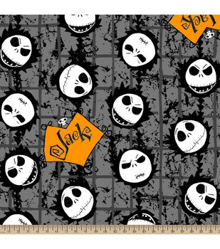 Halloween Cotton Fabric-Nightmare Before Christmas Jack