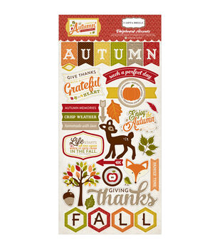 "A Perfect Autumn Chipboard 6""X12""-"