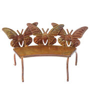 Fairy Garden Butterfly Copper Bench, , hi-res