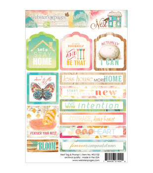 Webster's Pages Nest Tags & Prompts Stickers