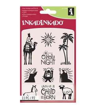 Inkadinkado® Inchies Clear Stamps-Nativity