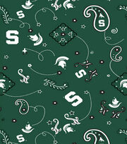 Michigan State University NCAA Bandanna Print Cotton Fabric, , hi-res