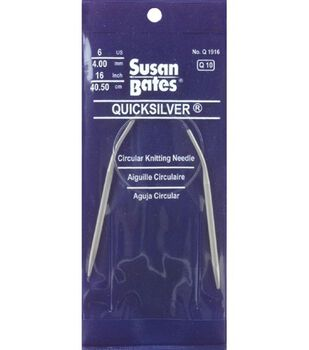 "Susan Bates Quicksilver Circular Knitting Needles 24""-Size 9"