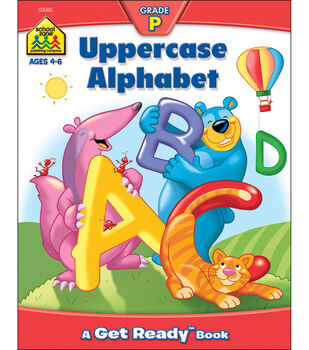 School Zone Preschool Workbooks 32 Pages-Uppercase Alphabet