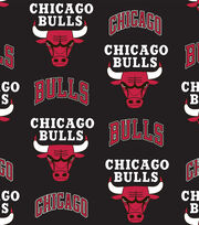 Chicago Bulls NBA Tossed Print Fleece Fabric, , hi-res