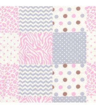Nursery Flannel Fabric- Skin Geo Patch