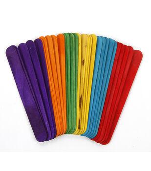 "Jumbo Craft Sticks-Colored 5.75"" 60/Pkg"