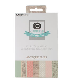 "Captured Moments Double-Sided Cards 6""X4"" 30/Pkg-Antique Bliss"