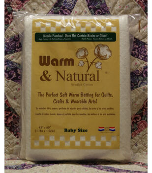 """The Warm Company Warm And Natural Cotton Needled Batting 45""""x60"""""""