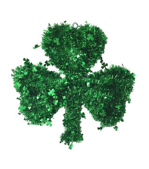 St. Patrick's Day Tinsel Wall Decor-Shamrock