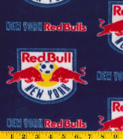 New York Red Bulls MLS Fleece Fabric , , hi-res