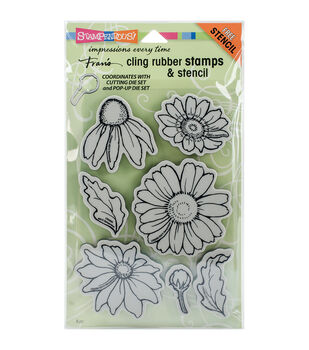 Stampendous® Cling Stamps & Stencil-Daisy Mix