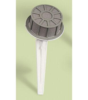 Small Dry Foam Bouquet Holder, White Handle/Green Foam