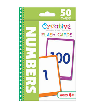 Creative Teaching Materials 50ct Flash Cards-Numbers