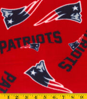 New England Patriots NFL Red Fleece Fabric by Fabric Traditions, , hi-res