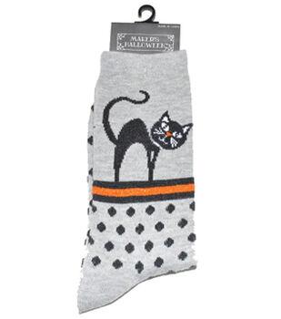 Maker's Halloween Socks-Cat Dot Crew