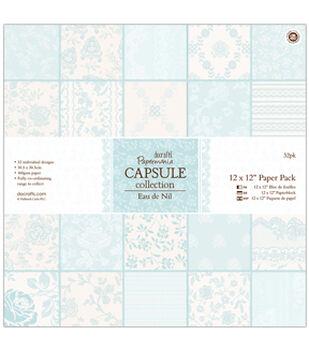 """Papermania Paper Pack 12""""X12"""" 32/Pkg-Eau De Nil"""
