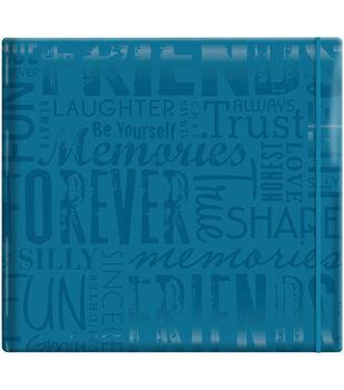 """MBI Gloss Scrapbook 12""""X12""""-Friends-Teal"""