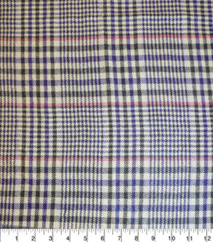 Perfectly Plaid Fabric-Acrylic Houndstooth Tan Brown