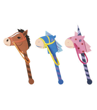 Busy Kids Learning Foam Pony on a Stick