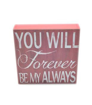 Ec Forever Be My Always Word Block