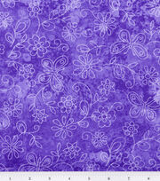Keepsake Calico™ Cotton Fabric-Sundrenched Butterfly Flowers Lavender, , hi-res