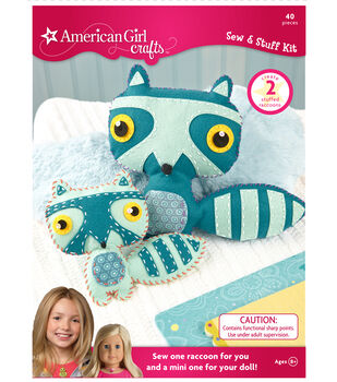American Girl Crafts Raccoon Sew & Stuff Kit