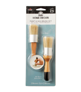 FolkArt Paint & Wax Brush Set