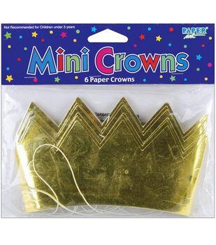 Paper Party Crowns 6/Pkg-Gold