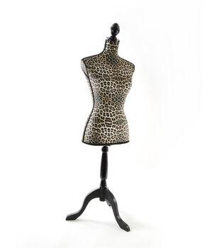 Decorative Linen Dressform-Animal Print