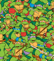 Nickelodeon Teenage Mutant Ninja Turtles Retro Flannel Fabric, , hi-res