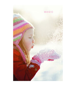 Holiday Cards- Warm Girl Blowing Snow