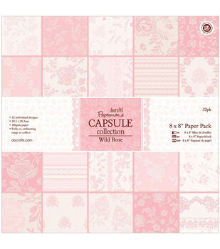 "Papermania Paper Pack 8""X8"" 32/Pkg-Wild Rose"