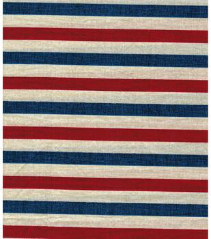 Patriotic Fabric-Textured Stripe Parchment