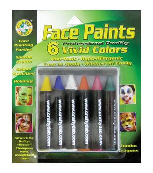 Face Paint Jumbo Crayons 6/Pkg