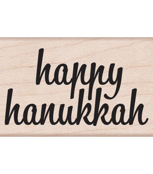 "Hero Arts Mounted Rubber Stamp 2.25""x1.5""-Happy Hanukkah"