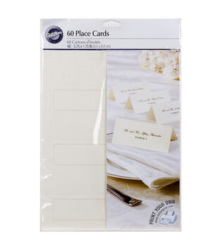 Wilton® 60ct Placecards-Ivory