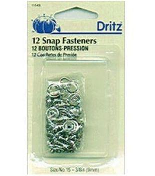 "Gripper Snaps Bonus Pack 3/8"" 12/Pkg-Nickel"